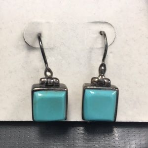Jewelry - Antique sterling silver & turquoise earrings